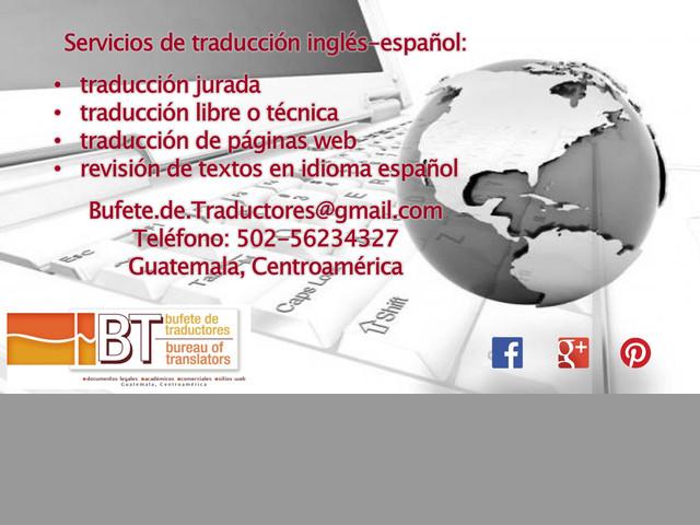 Servicios de traducción inglés-español