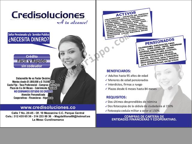 CREDITOS FONDOS PRIVADOS, CREDIEFECTIVOS$$$, ACTIVOS Y PENSIONADOS, LIBR