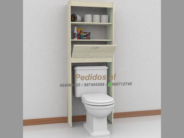 Muebles modernos (Organizador de baño sobre inodoro Málaga) S-235 soles