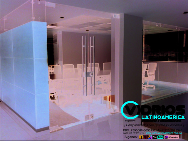 cabina en vidrio templado