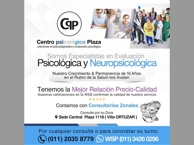 Centro Psicológico Plaza. Soluciones en evaluación psicológica y neuroco
