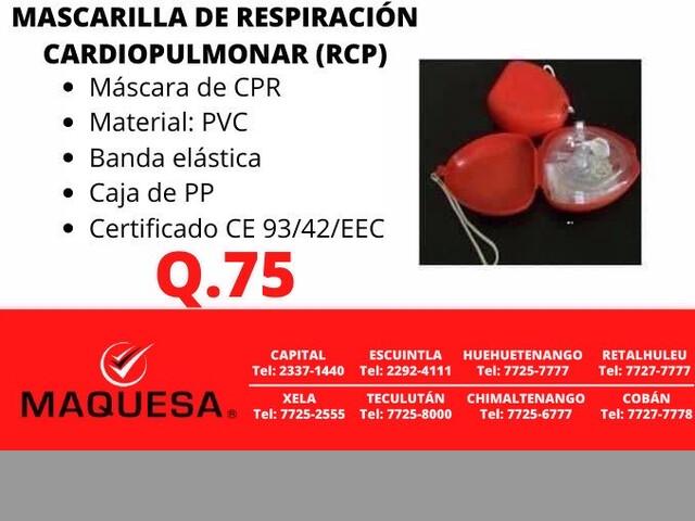 MASCARILLA DE RESPIRACIÓN CARDIO PULMONAR
