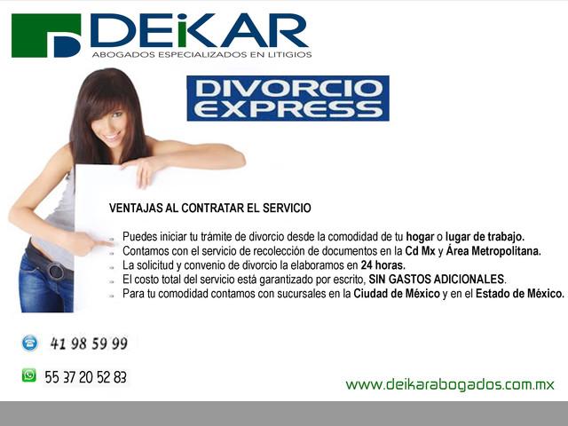 Divorcio Express Económico en el Estado de México