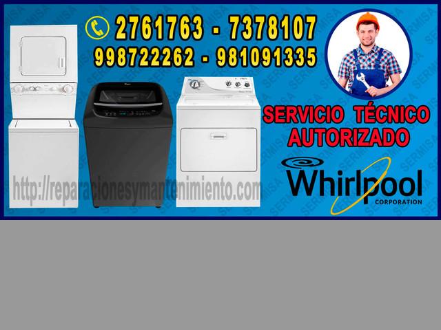 SERVICIO TECNICO LAVADORAS WHIRLPOOL 7378107 SAN ISIDRO