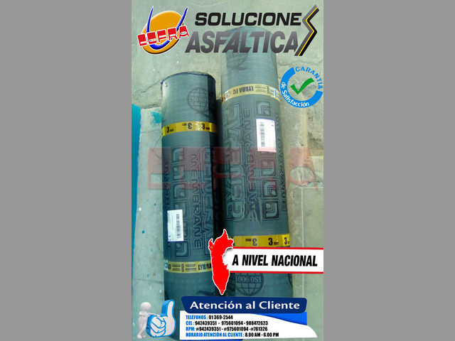 SOLICITE SU COTIZACION DE MANTO ASFALTICO - ASFALTO RC 250 STOCK