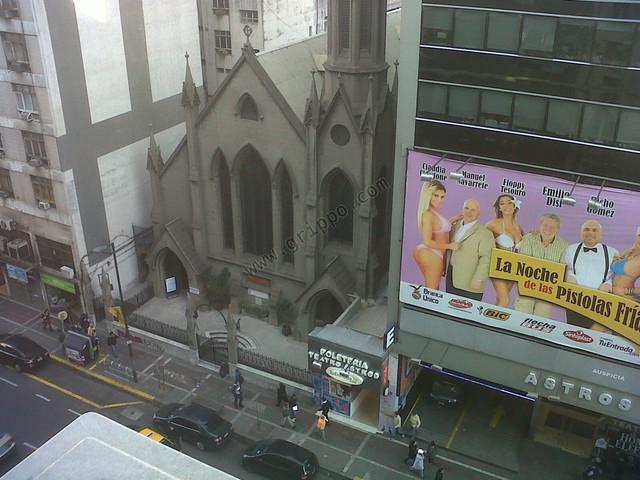 Vista desde la ventana frente Maipú