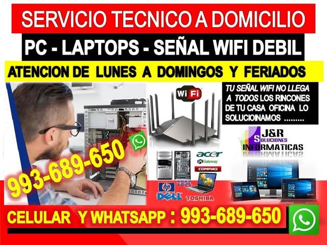 Tecnico de Pcs internet wifi laptops formateos cableados