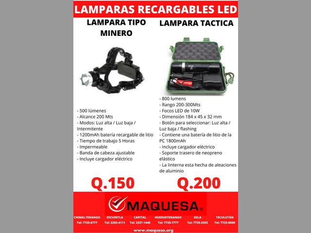 LAMPARAS RECARGABLES LED