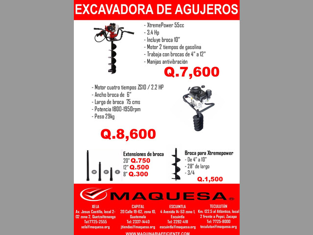 EXCAVADORA DE AGUJERO