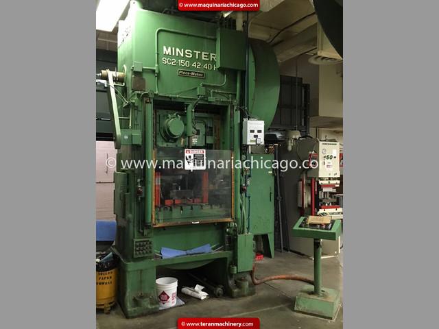 Troqueladora MINSTER 150 Ton - Usada en Venta
