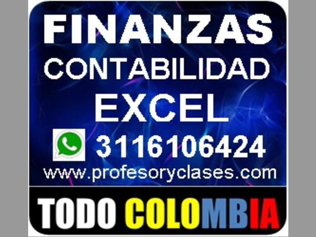 Clases de contabilidad a domicilio en Medellin. Profesor particular