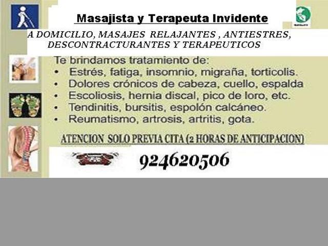 Masajes con Ajuste Quiropractico T.944565955