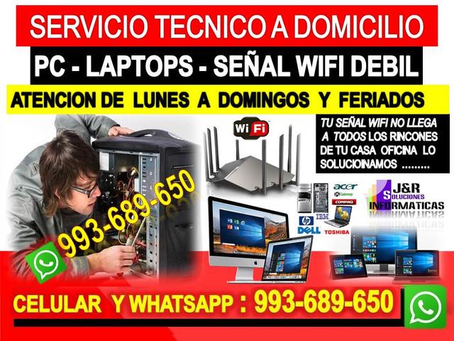 Tecnico de Pcs internet wifi laptops a domicilio