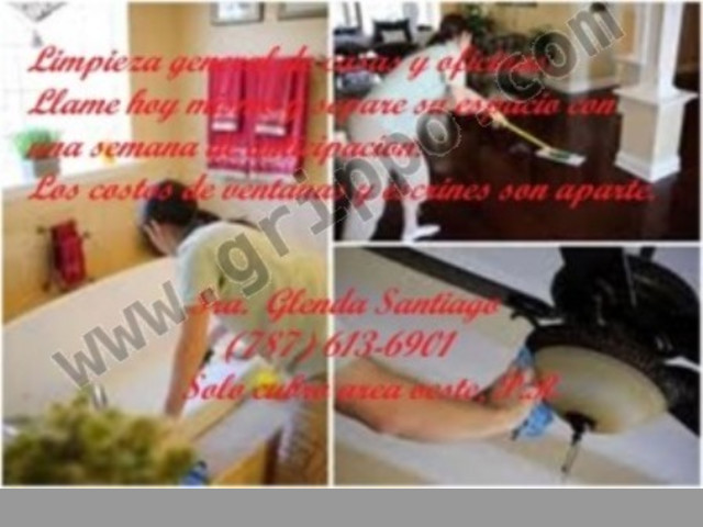 Limpieza de casas, apartamentos y oficina
