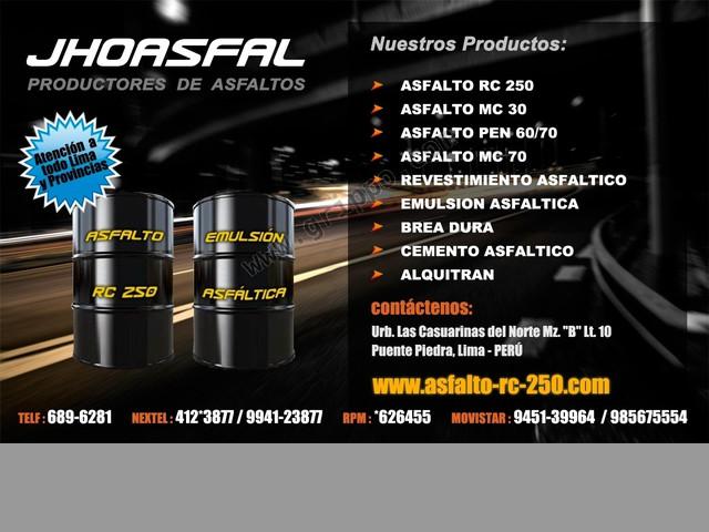 Ventas de revestimiento asfaltico rpm:*626455