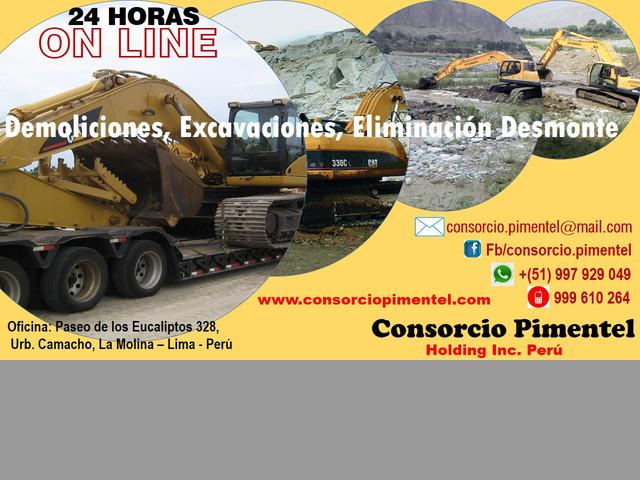 Obras de Reconstrucción Emergencia - Maquinaria PERU 2019