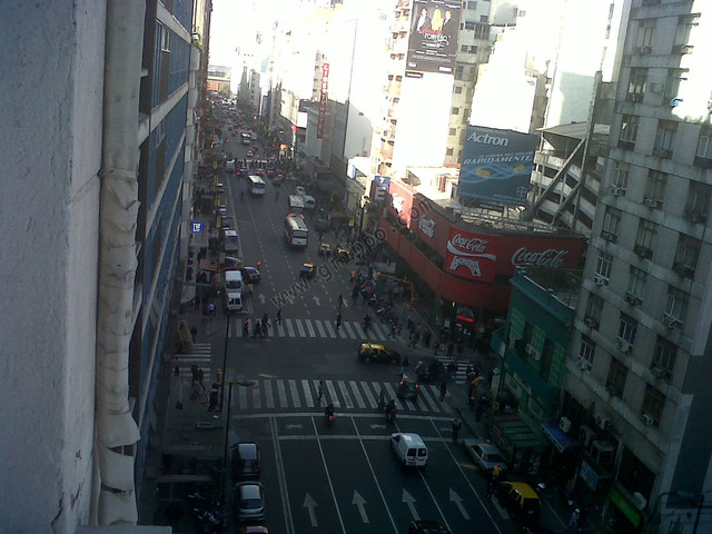 Vista exterior desde la ventana hacia Puerto Madero