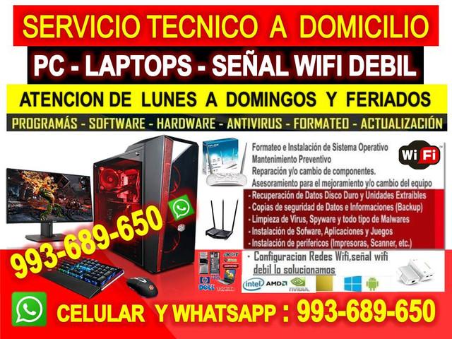 TECNICO DE PC INTERNET WIFI LAPTOPS A DOMICILIO