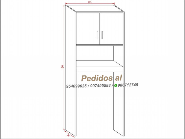 Mueble Optimizador De Baño Barcelona Blanco S- 230 soles