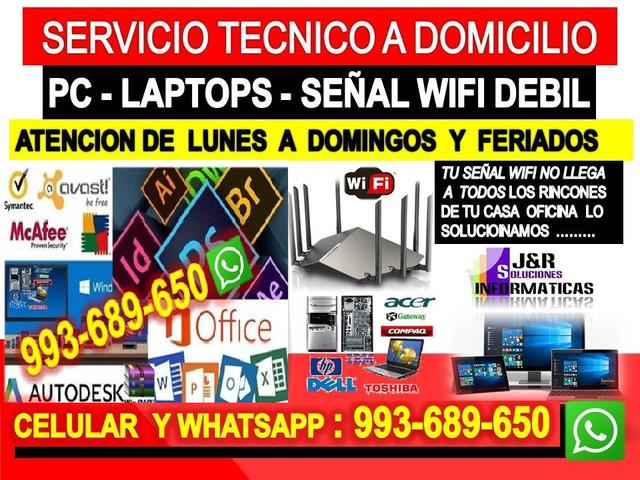 Tecnico de Repetidores wifi pcs laptops formateos cableados