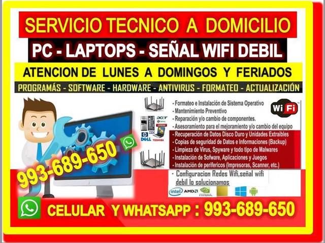 TECNICO REPETIDORES DE INTERNET CABLEADOS PC LAPTOPS EN ZARATE
