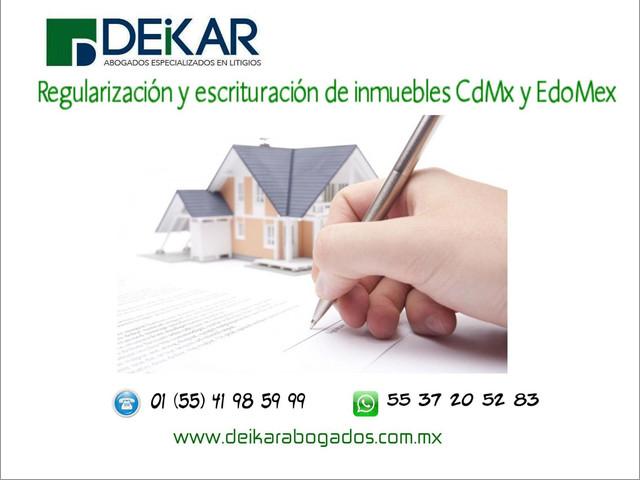 REGULARIZACIÓN Y ESCRITURACIÓN DE INMUEBLES EN LA CIUDAD DE MÉXICO Y EL