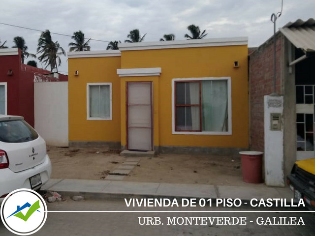 Vivienda 1 Piso - Residencial Monteverde Galilea, Castilla (Piura)
