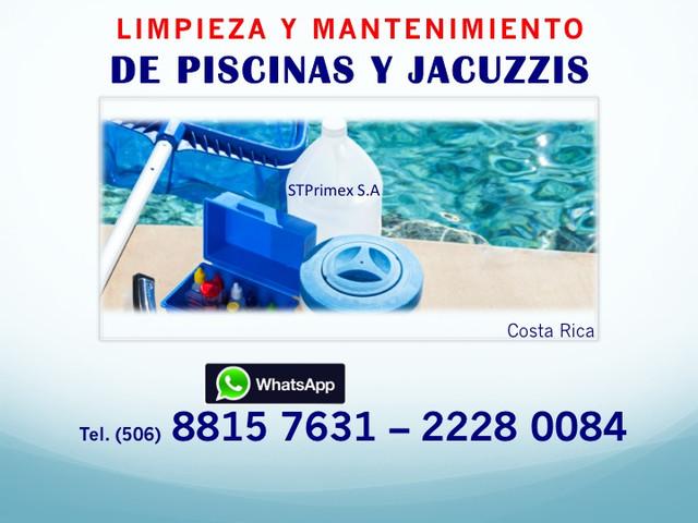 LIMPIEZA Y MANTENIMIENTO DE PISCINAS Y JACUZZIS.