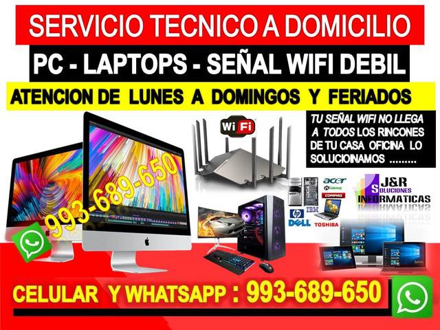 Servicio tecnico a internet pcs laptops Formateos cableados a domicilio