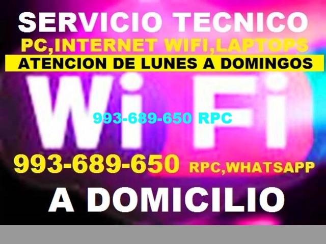 Soporte tecnico configuracion Repetidores Wifi pc laptops a domicilio