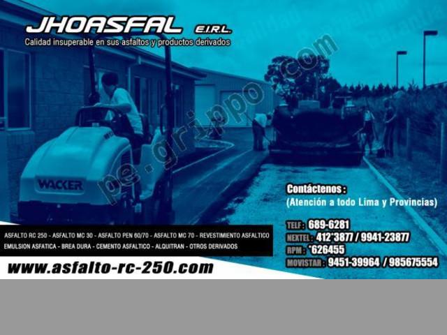 JHOASFAL E.I.R.L- RPM:*626455 ASFALTOS RC-250