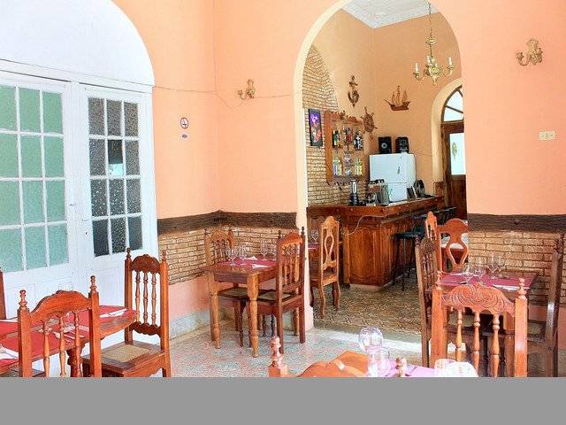 Restaurant Lis with air-conditioned in Trinidad, Cuba.