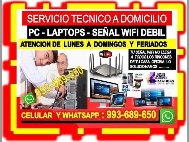 TECNICO DE PC LAPTOPS CONFIGURACION ROUTERS CABLEADOS DE RED
