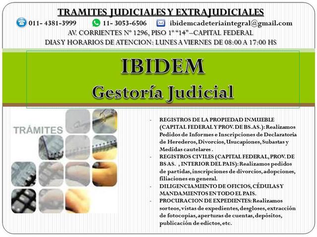 Dilgencias, Tramites registrales, Procuracion, Servicios para abogados y