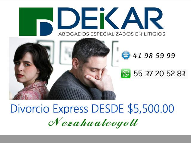 Divorcio Express Económico en Nezahualcóyotl