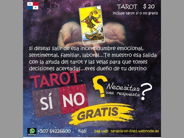 LECTURA DEL TAROT on-line y rituales con velas