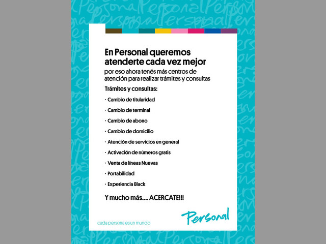 Atención al cliente www.personal.com.ar