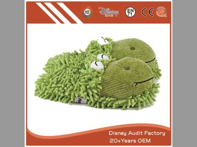 Fuzzy Frog Slippers