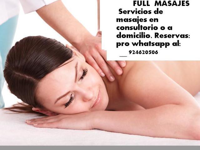Full masajes a domicilio para dolores crónicos T.924620506