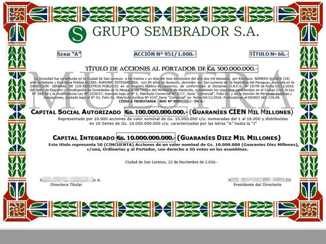 VENDO SOCIEDAD ANONIMA EN PARAGUAY