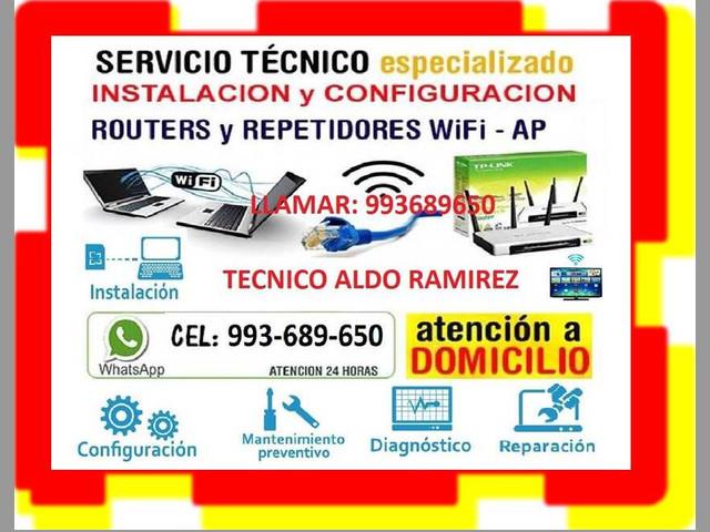 TECNICO DE INTERNET CONFIGURACION ROUTERS CABLEADOS A DOMICILIO