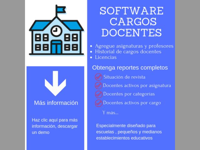 software cargos docentes