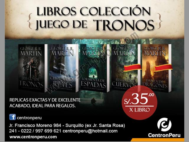 LIBRO JUEGO DE TRONOS COLECCIÓN