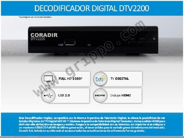 Decodificador Tv Digital DTV2200