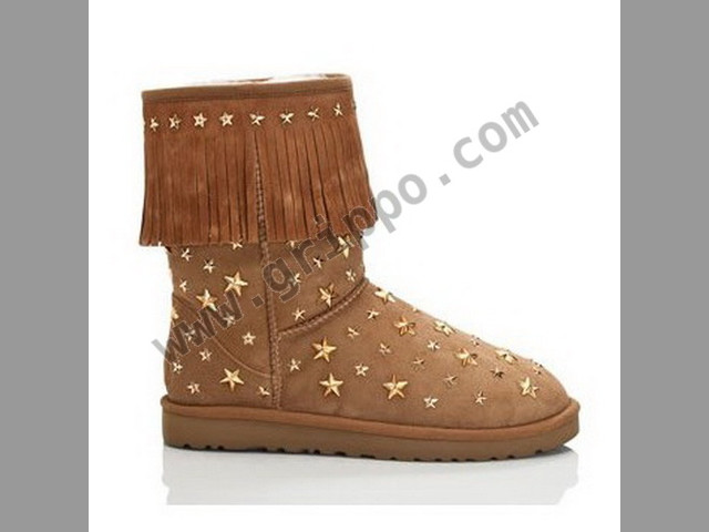 Fashion sweet tassel Ugg Jimmy Choo Starlit Shoes Boots Chestnut