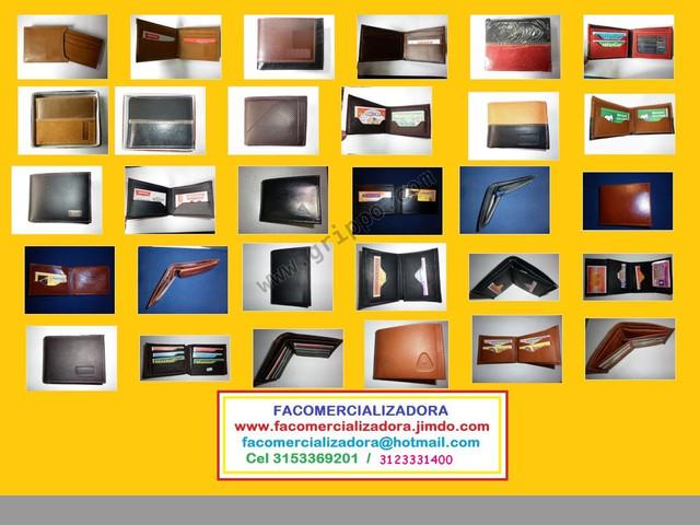Espectaculars billeteras,nacionales, importadas,ventas por mayor y detal