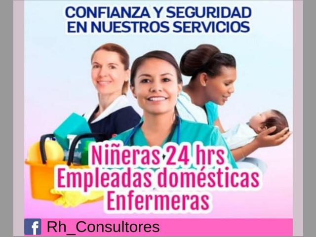 empleadas, niñeras, enfermeras