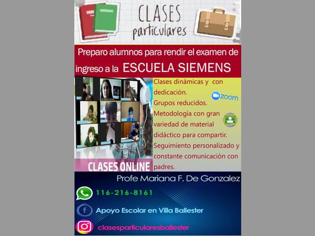 Curso de ingreso a la Escuela Siemens