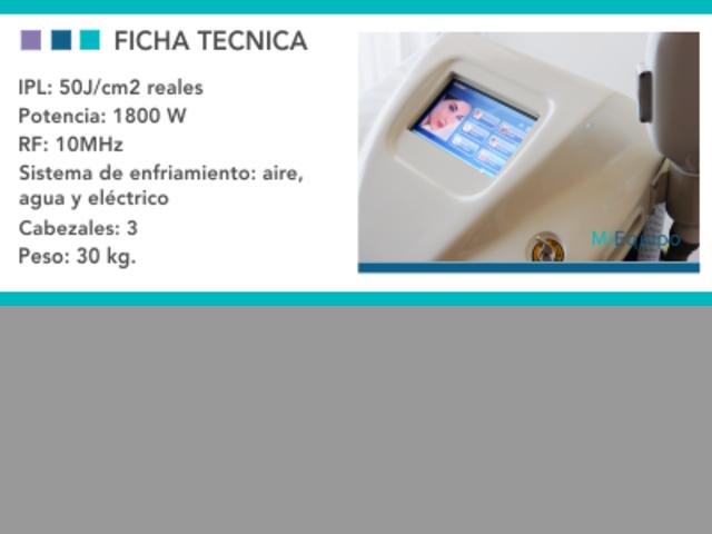 Alquiler Luz Pulsada + Radiofrecuencia – IPL – Elight
