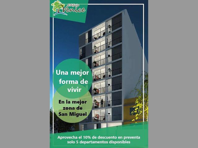 PREVENTA DE DEPARTAMENTOS EN SAN MIGUEL
